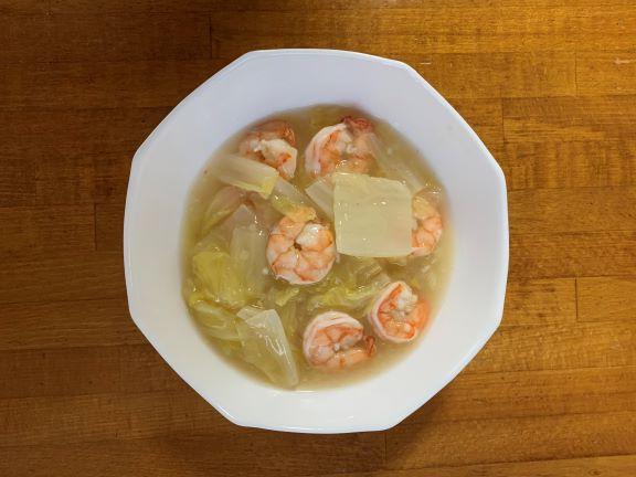 白菜とむきえびの簡単うま煮